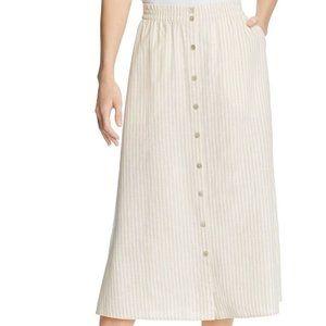 Eileen Fisher Striped Midi Skirt